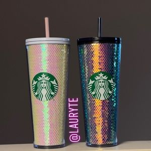 Starbucks 2020 Holiday Purple and Pink Sequin